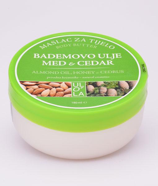 maslo-mandljevo olje-za telo-cedra-med-vibrimed-ulola