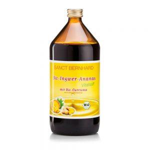 239 BIO INGVERJEV in Ananasov sok z bio kurkumo 1000 ml