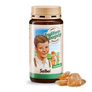 2813 Tradicionalni bonboni ŽAJBELJ brez sladkorja 170 g, SANCT BERNHARD