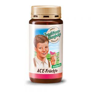 2815 Tradicionalni bonboni sadni-ACE, brez sladkoraj, 170 g, SANCT BERNHARD